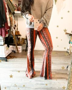 Rusty Red Bell Bottoms