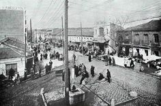 La vallecana Avenida de la Albufera esquina con la Avenida de Monte Igueldo durante los años cuarenta. Foto Alfonso. Madrid, Street View, War, Simone De Beauvoir, Faces