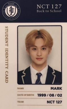 Nct 127 Mark, Mark Nct, School Kit, Back To School, Boy And Girl Drawing, Nct Group, Id Photo, Bullet Journal Aesthetic, King Of My Heart