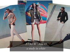 do you j.crew? | a J.Crew style blog: January 2013 | J.Crew Catalog - furthering my love for white for winter.  especially that look on the right.