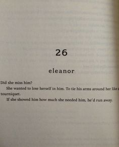 Eleanor and Park - The thought that often sits in the back of my mind.