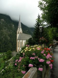 By Artist Unknown🇺🇸. century church in Heiligenblut, Austria.The Gothic pilgrimage church of Saint Vinzenz, with its needle spire, was built between Old Country Churches, Old Churches, Have A Beautiful Sunday, Beautiful Places, Take Me To Church, Church Architecture, Architecture Background, Cathedral Church, Church Building