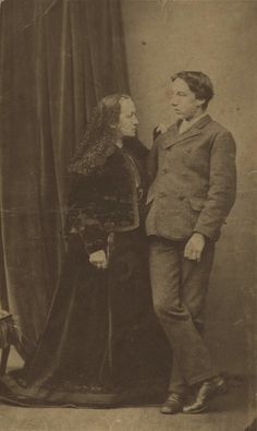 Julia Margaret Cameron and her son, Henry Herschel Hay Cameron, circa 1867. Henry, Cameron's youngest son, followed in his mother's footsteps and became a professional photographer.