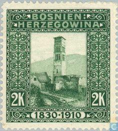 1910 Austria-Hungary - Bosnia and Herzegovina - St. Luke Tower in Lajce