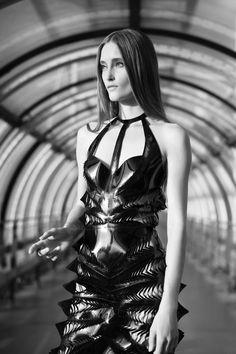 Innovative Fashion Design - laser cut dress with graphic surface patterns // Iris van Herpen
