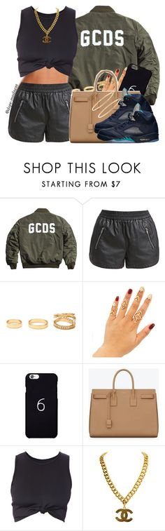"""""""☕️"""" by dope-madness ❤ liked on Polyvore featuring Noisy May, Forever 21, October's Very Own, Yves Saint Laurent, Retrò and Brooks Brothers"""