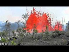 This video has all kinds of cool stuff, if you're interested in volcanoes; deflations, collapses, ominous lava lake drainings, time-lapse lava flows, and fissure eruptions.    Hawaii Volcano - 2011 Kamoamoa fissure eruption, six months later.