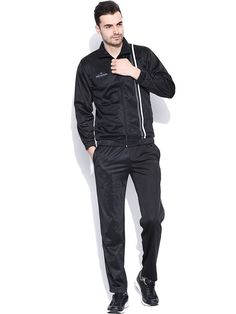 Duke Men's Stipped Black Track Suit by Returnfavors