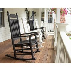 Jefferson Plastic Outdoor Rocking Chair | POLYWOOD | Recycled Plastic | Available at Vermont Woods Studios