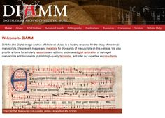 DIAMM (the Digital Image Archive of Medieval Music)