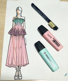 Fashion Design Sketchbook, Fashion Illustration Sketches, Fashion Design Drawings, Fashion Sketches, Illustrations, Fashion Painting, Fashion Art, Types Of Body Shapes, Fashion Terms
