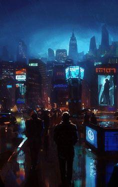 Cyberpunk future.