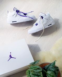 Air Jordan 4 Retro Metallic Purple CT8527-115 Jordan 4, Jordan Retro, Sneakers Fashion, Fashion Shoes, Nike Shoes, Shoes Sneakers, Jordan Outfits, Air Jordan Shoes, Shoe Collection