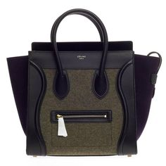 Celine Tricolor Luggage Felt Mini | See more vintage Tote Bags at https://www.1stdibs.com/fashion/handbags-purses-bags/tote-bags in 1stdibs