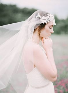 Veil by Gilded Shadows - Nature inspired wedding shoot by Leighanne Herr - via Magnolia Rouge (Model: Candace Helstrom)