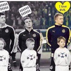 Robert Lewandowski i Mario Goetze uciekli z Borussii z powodu kasy • Tylko Marco Reus pozostał lojalny • Zobacz zabawne zdjęcie >>