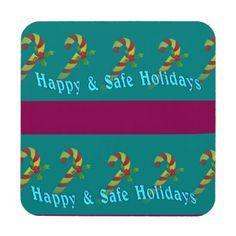 Festive Holiday Wishes Coasters Set
