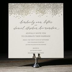 thelefthandedcalligrapher.com: Calligraphy Modern Letterpress/Foil Wedding Invitation
