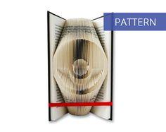 Folded Book Art Pattern - Pokeball - 125 Folds - Including manual - Bookfolding Pattern - Folded Book Pattern - Book Folding pattern
