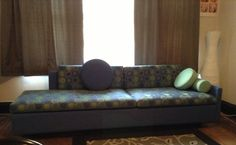 Lauren Rottet #Evaneau Asymmetrical Sofa