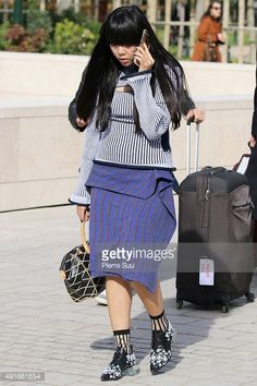 Susie Lau arrives at the Louis Vuitton show as part of the Paris Fashion Week Womenswear Spring/Summer 2016 on October 7, 2015 in Paris, France. #susiebubble #stylebubble