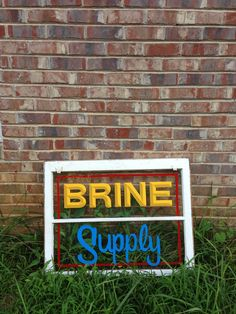 After an art trade I got a hand painted sign done by Chastin Brand. #BrineSupply