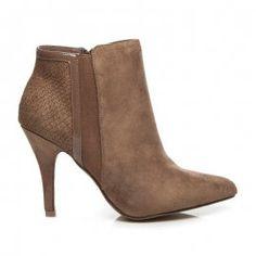 Dámske členkové topánky na ihličkovom podpätku F258KH Ankle, Shoes, Fashion, Moda, Zapatos, Wall Plug, Shoes Outlet, Fashion Styles, Shoe