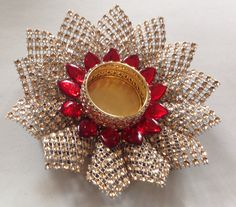 icu ~ Pin by Usha Mour on diwali Diwali Decoration Items, Thali Decoration Ideas, Diwali Diya, Diwali Craft, Cd Crafts, Diy Home Crafts, Rakhi Design, Marriage Decoration, Candle Holder Decor