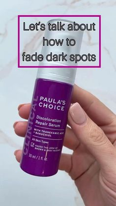 """@glowopedia has been using the CLINICAL Discoloration Repair Serum for the last few months and has """"definitely noticed dark spots and discolored areas have faded."""" Shop at Paula's Choice. How To Fade, Paula's Choice, Uneven Skin Tone, Face Serum, Dark Spots, Clinic, Brown And Grey, Choices"""
