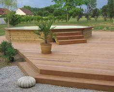 piscine bois hors sol gardipool octoo et terrasse bois - Terrasse En Bois Autour D Une Piscine Hors Sol