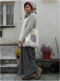 Ophelia Violetta - Knit Purl (by Rabbit Heart) Mori outfit I wore for...