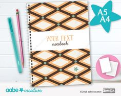 Personalised Notebook (Dave Diamond), handmade stationery - lots of designs to choose by aabecreative on Etsy