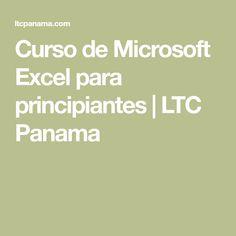 Curso de Microsoft Excel para principiantes | LTC Panama