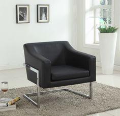 Modern Arm Chair with Chrome Legs