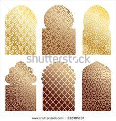 vector islamic window shapes - stock vector                                                                                                                                                                                 Más