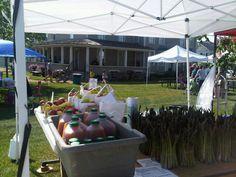 Canton Farmers Market, Historic Bartlett-Travis house on Sundays.  Canton, Michigan.