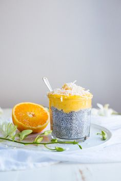 Chia Seed Pudding With Mango Curd