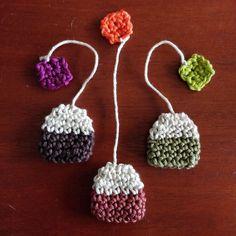 Diy Crochet Projects, Craft Projects, Crochet Food, Knit Crochet, Modern Crochet Patterns, Crafts To Make, Free Pattern, Crochet Earrings, Creations