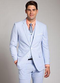 Blue and White Seersucker Suit for Men | Bonobos