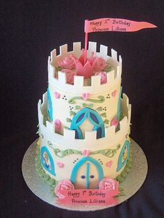 castle cake | Picture 017 , originally uploaded by Frostings by Judy .