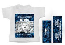 communie uitnodiging mini t-shirtje grind