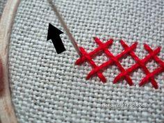 Interlaced Herringbone Stitch