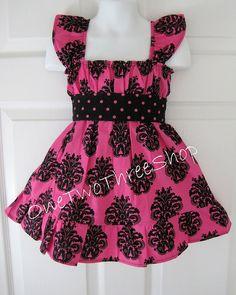 Custom Boutique Clothing Damaks Cap Sleeve Dress by amacim on Etsy, $35.00