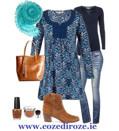 Pocket Tunic in Blue #stylingset  http://cozediroze.ie/index.php/product/pocket-tunic/