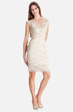 @Amy Sherrill.  What do you think of this dress?  JS Collections Layered Lace Sheath Dress available at Nordstrom