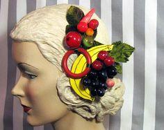 fruit headpiece.