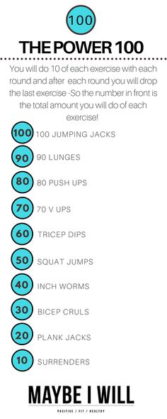 The Power 100 is a effective and challenging workout that will have your heart rate up torching calories AND sculpting lean muscles!!