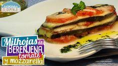 Milhojas de berenjena, tomate y mozzarella - Receta ligera y saludable -...