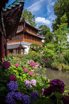 Gardens at Pairi Daiza wildlife park in Brugelette, Belgium. It has the largest Chinese gardens of Europe, probably outside of Asia.