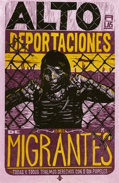 "Santiago Armengod, ""Stop the Deportation of Migrants,""  Mexico, n.d."